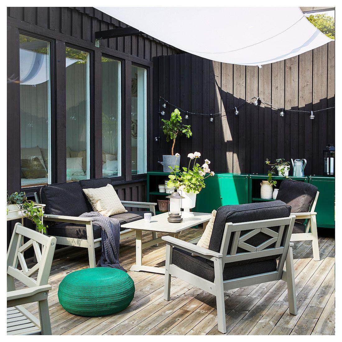 Bondholmen 4 Seat Conversation Set Outdoor Gray Stained Jarpon Duvholmen Anthracite Ikea In 2020 Quality Outdoor Furniture Ikea Outdoor Outdoor Space