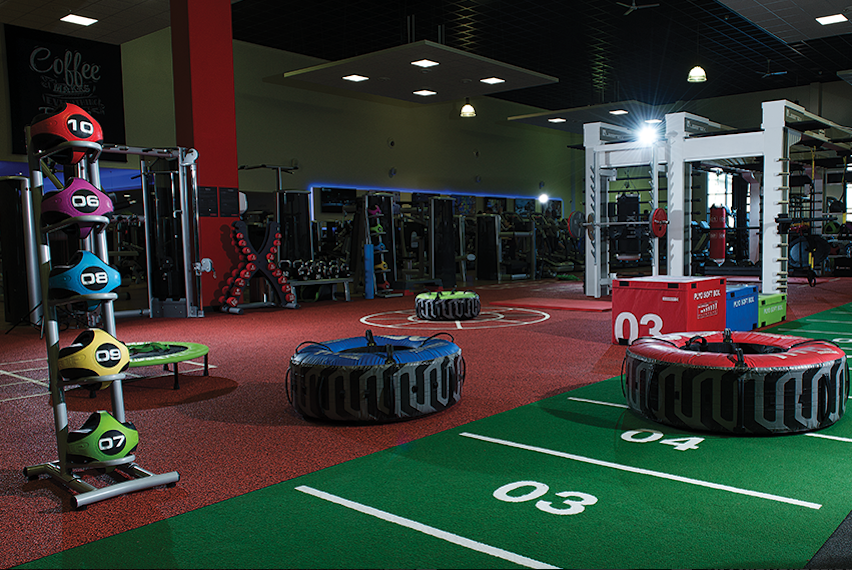This is a very popular functional training facility layout