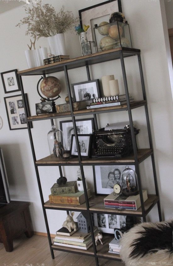 Turning the Vittsjö shelving rustic and industrial - IKEA Hackers