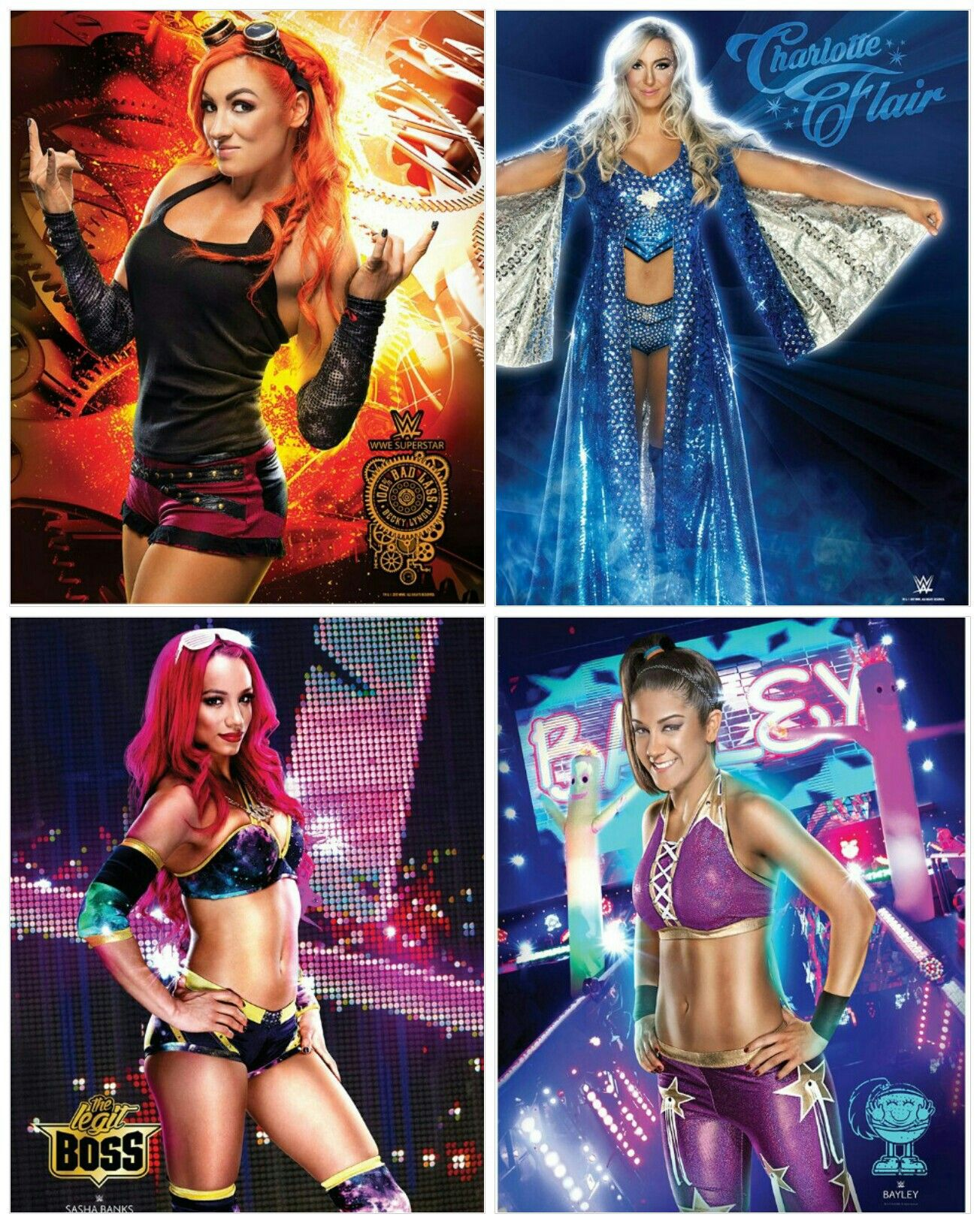 Collage Poster Sasha Banks WWE