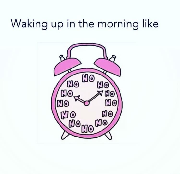Anybody who knows me knows I'm not a morning person and I think my clock looks like that.