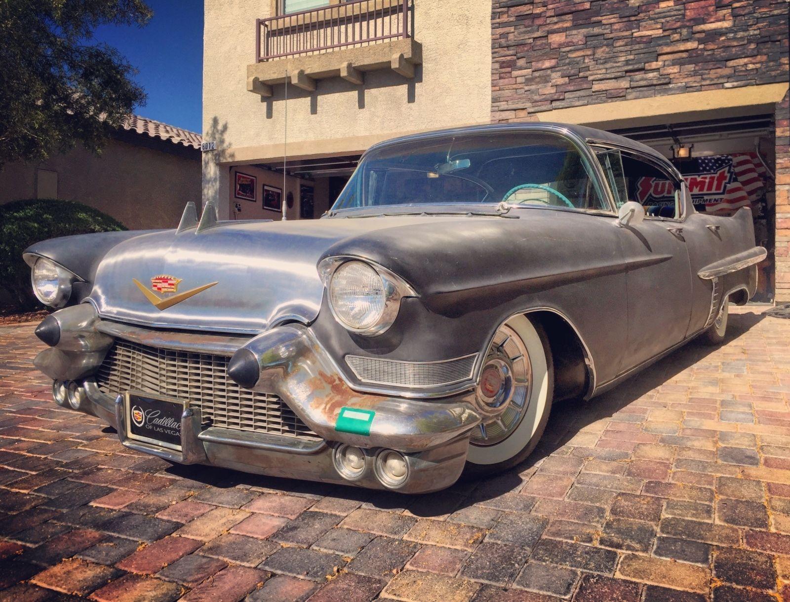 1957 cadillac sedan deville 57 hot rod rat rod kustom black plate