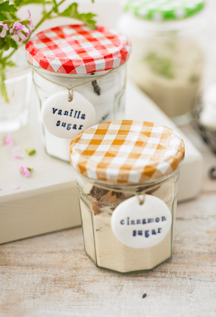 Try These Diy Flavored Sugars Using Repurposed Bonne Maman Jars Perfect For Adding To Coffee Oatmeal Cookies Jelly Jar Crafts Jam Jar Crafts No Sugar Foods