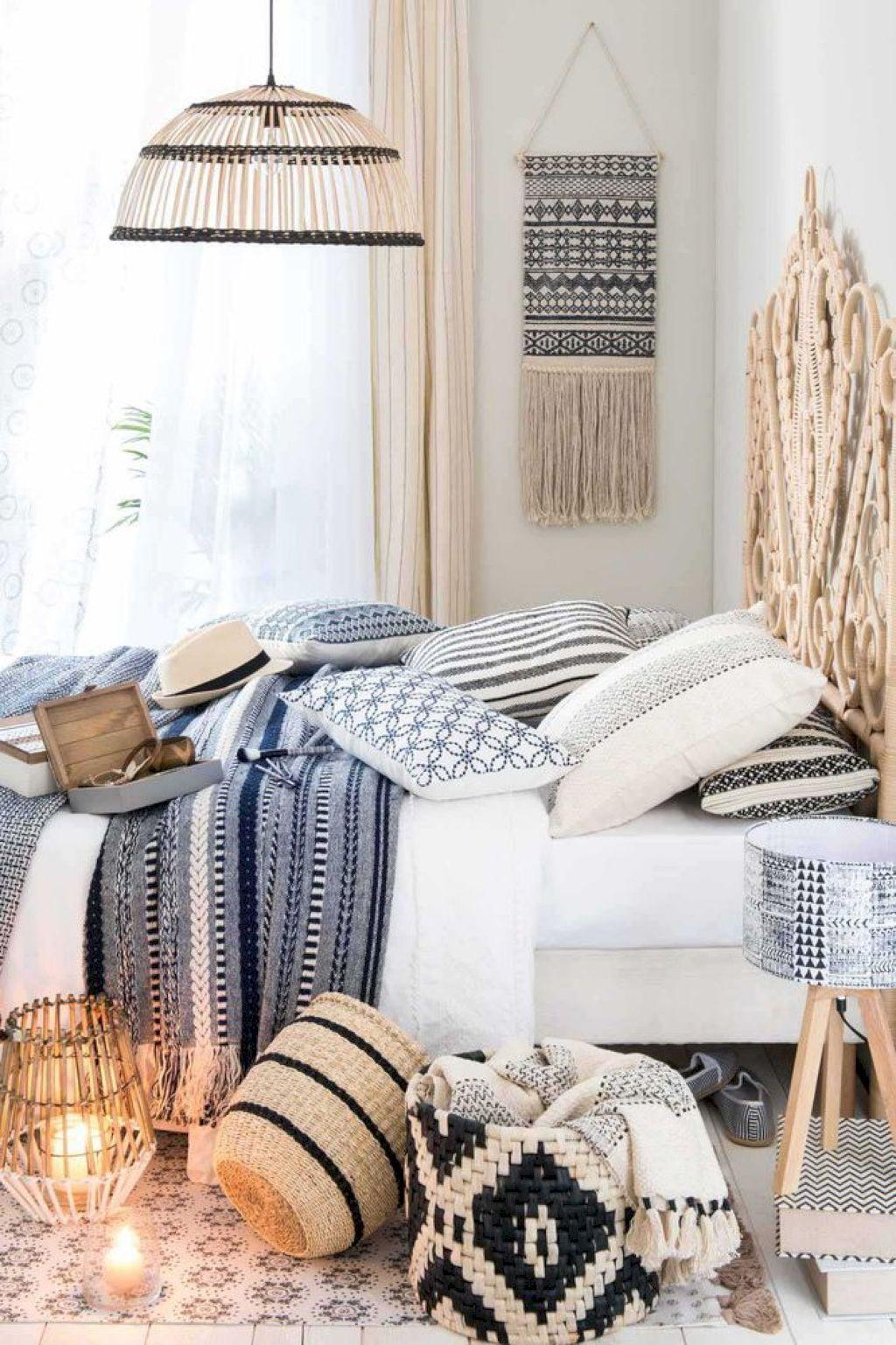 Nice 50 Comfy Boho Style Bedroom Decor and Design Ideas