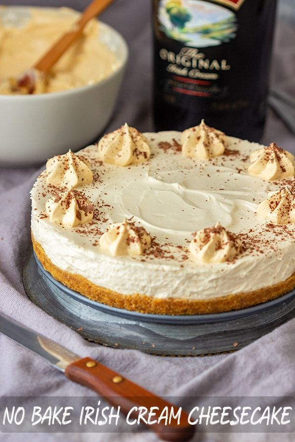 No Bake Irish Cream Cheesecake