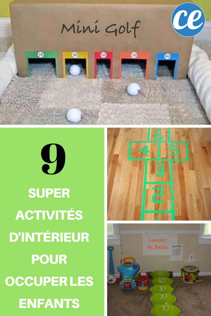 9 Super Activités d'Intérieur Pour Occuper les Enfants