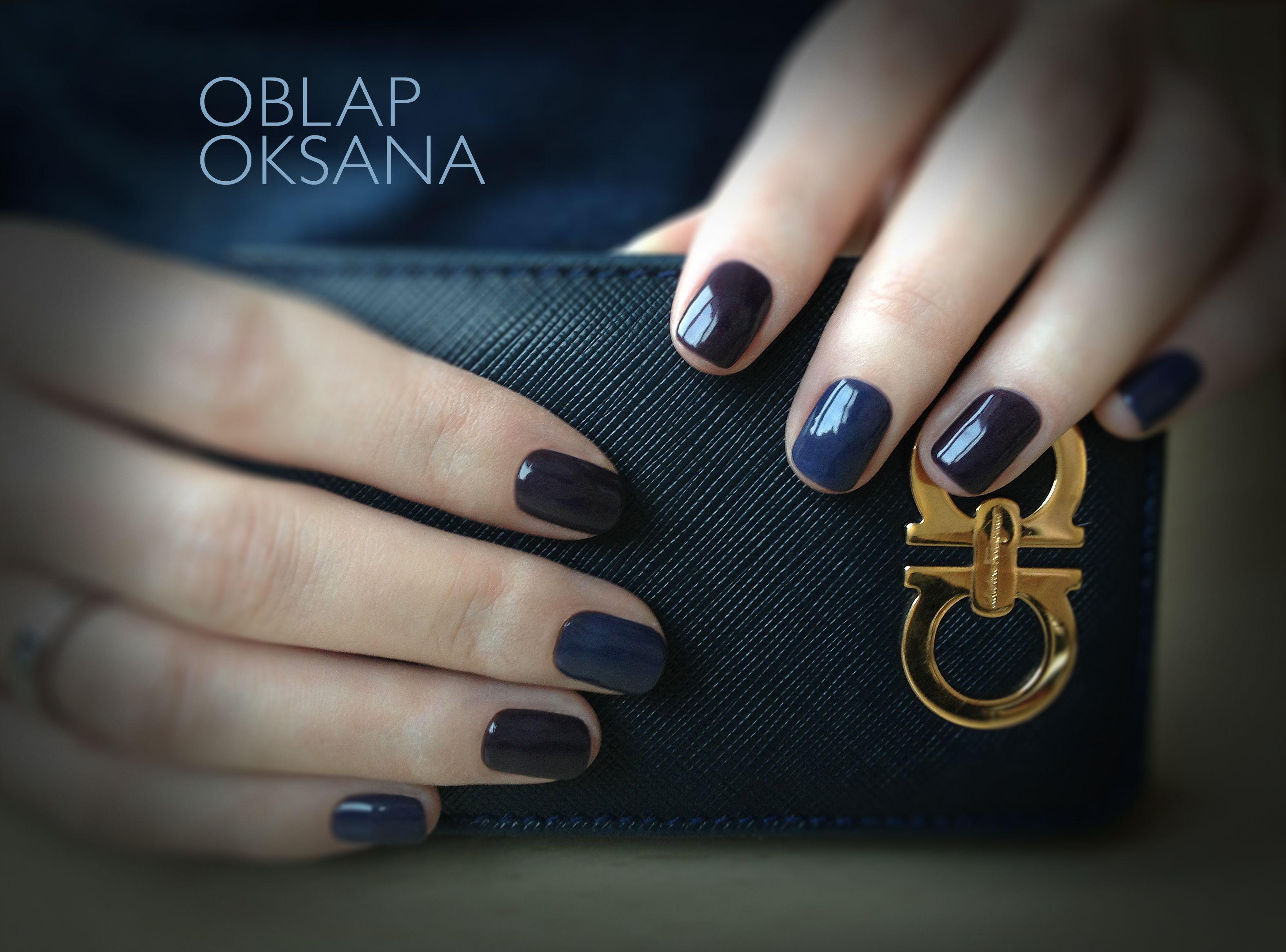 Dark blue trend nails | my work nail art | Pinterest | Dark blue and ...