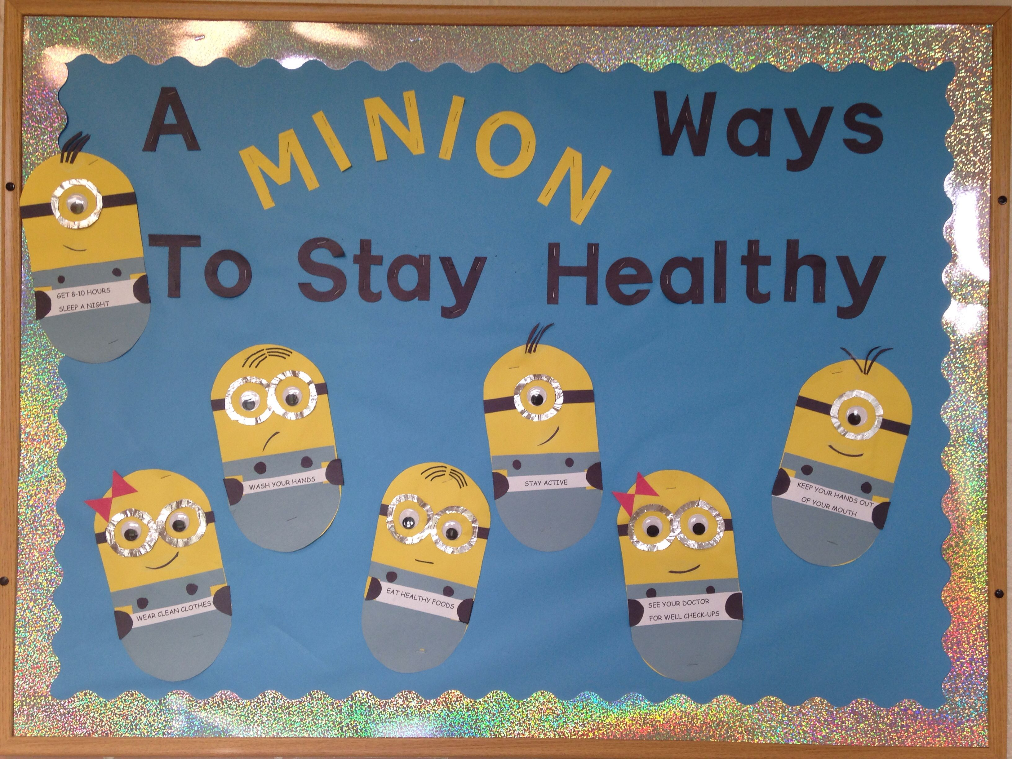 School nurse bulletin board minions bulletin board for Best home decor pinterest boards