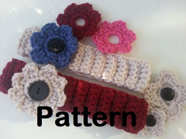Ribbed Crochet Headband Free Pattern Flower Headbands Flower And