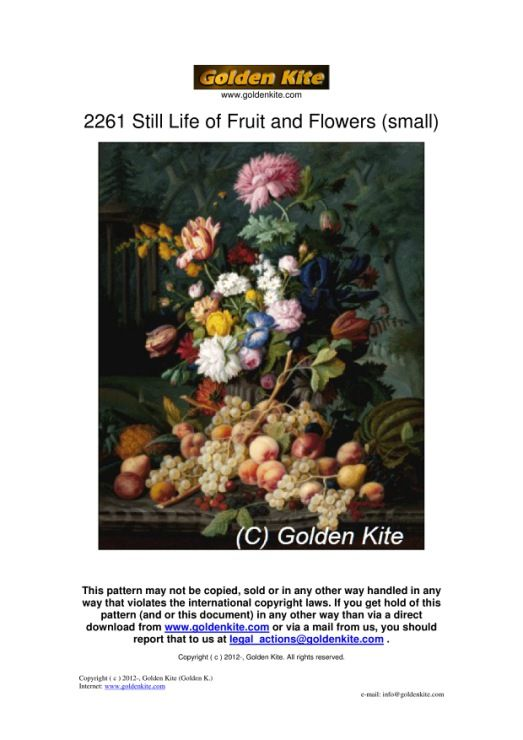 Gallery.ru / Фото #32 - 2261._STILL_LIFE_OF_FRUIT_AND_FLOWERS_(SMALL) - karatik