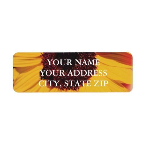 Sunflower Address Label Template  Address Label Template
