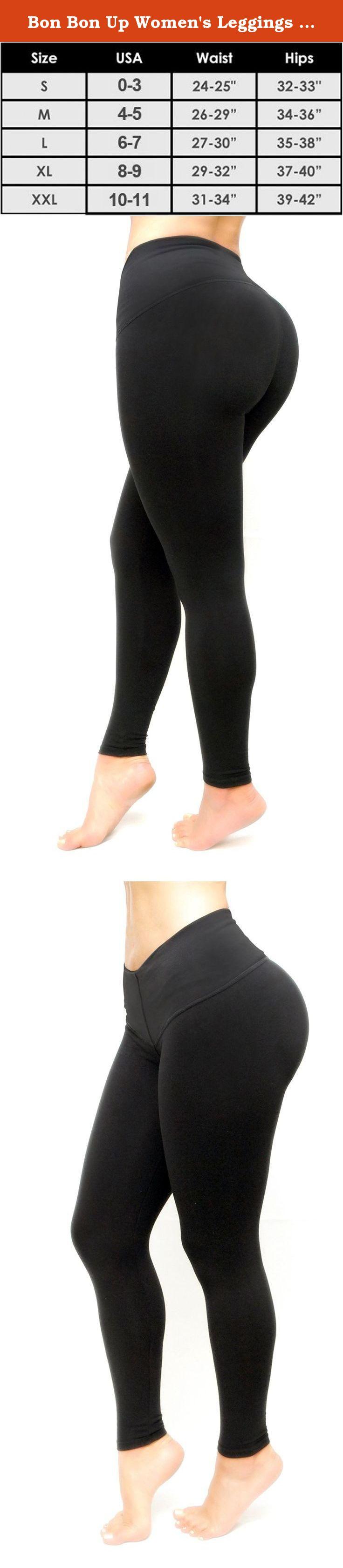 fb9af0bdf5479 Bon Bon Up Women s Leggings With Internal Body Shaper -Butt Lifter-S-Black