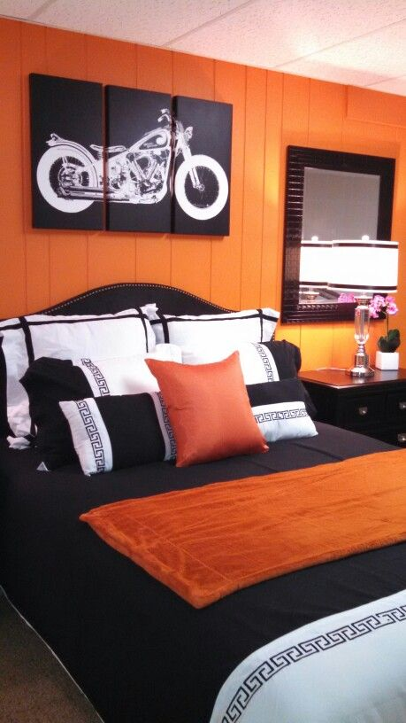 Orange bedroom. | Kids bedroom ideas | Bedroom orange, Orange kids ...