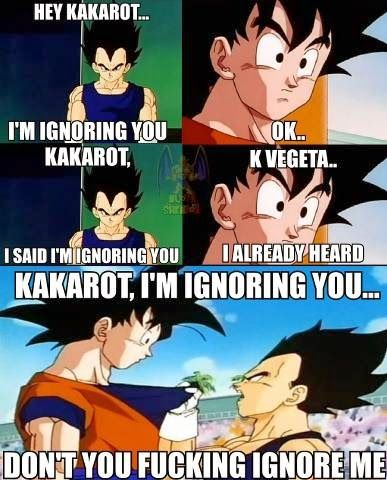 DRAGON BALL Z IS THE ISH!!!: Goku and Vegeta Memo
