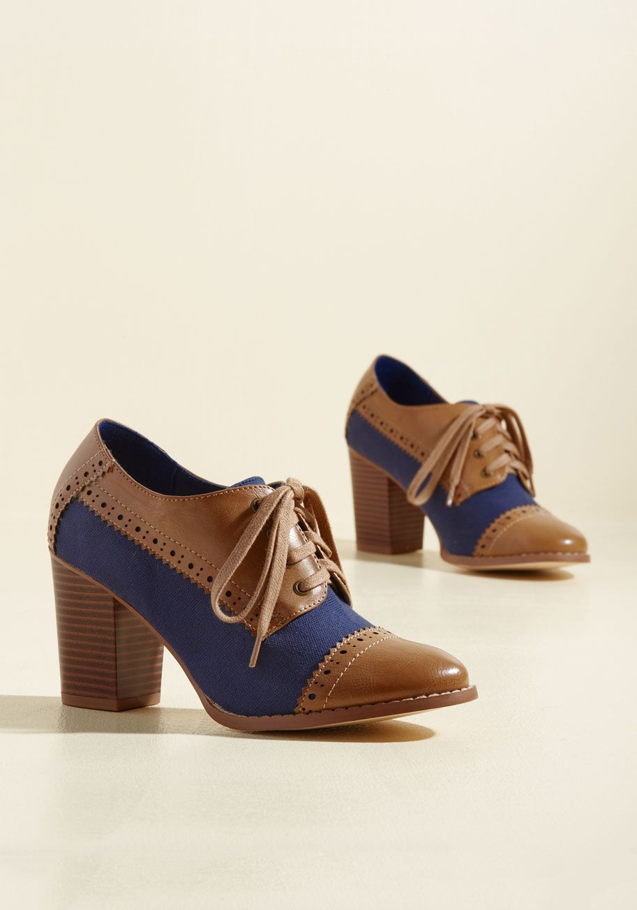 Eclectic Effortlessness Heel by Restricted Brown, Blue