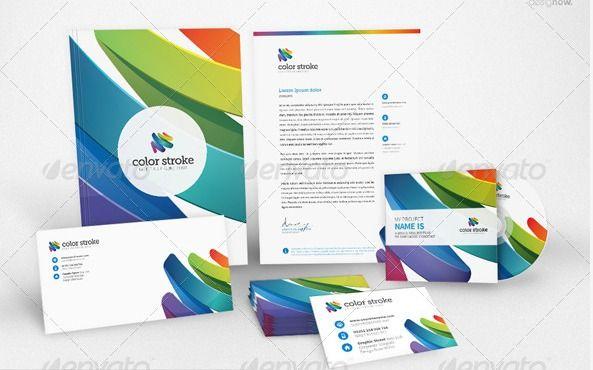 Corporate Identity Templates Color Stroke Graphic River Corporate