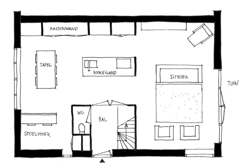 Online ontwerp bootcamp house and interiors - Lay outs rond het huis ...