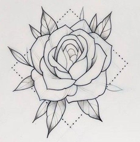 Pin by Leande le on Tattoo | Rose tattoo stencil, Tattoo