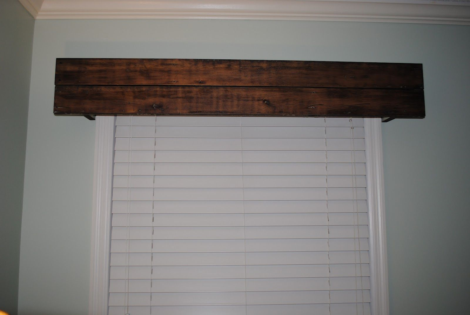 Rustic Wood Valance Whitehouse Project Blog Rustic