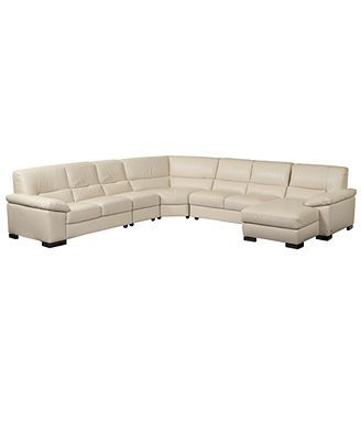spencer leather sectional sofa 5 left arm facing loveseat