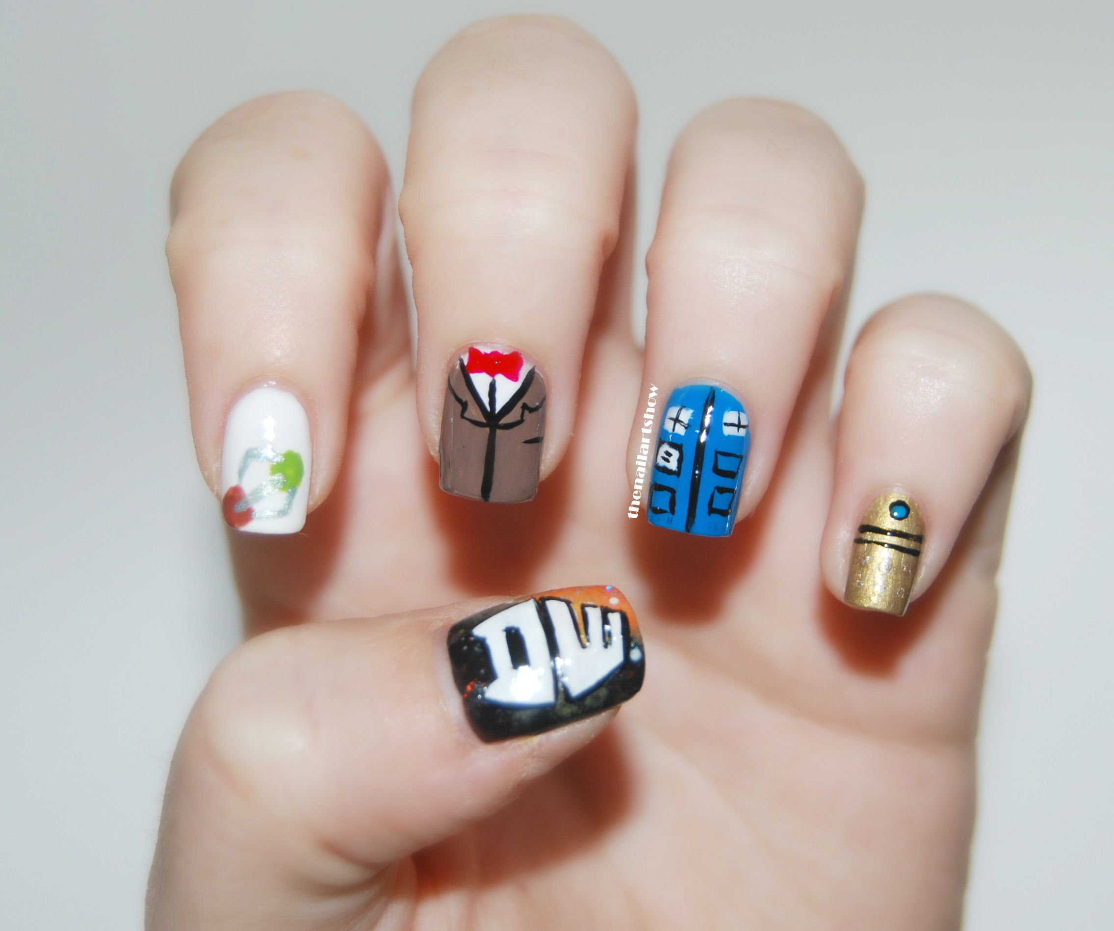 Doctor Who! | Makeup and Sherlock nails