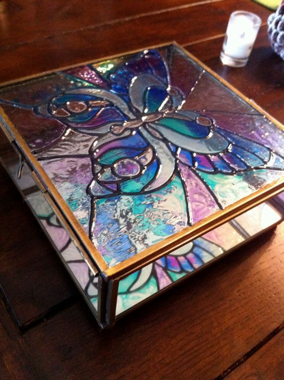 bce0605bf888 Faux Stained Glass Box
