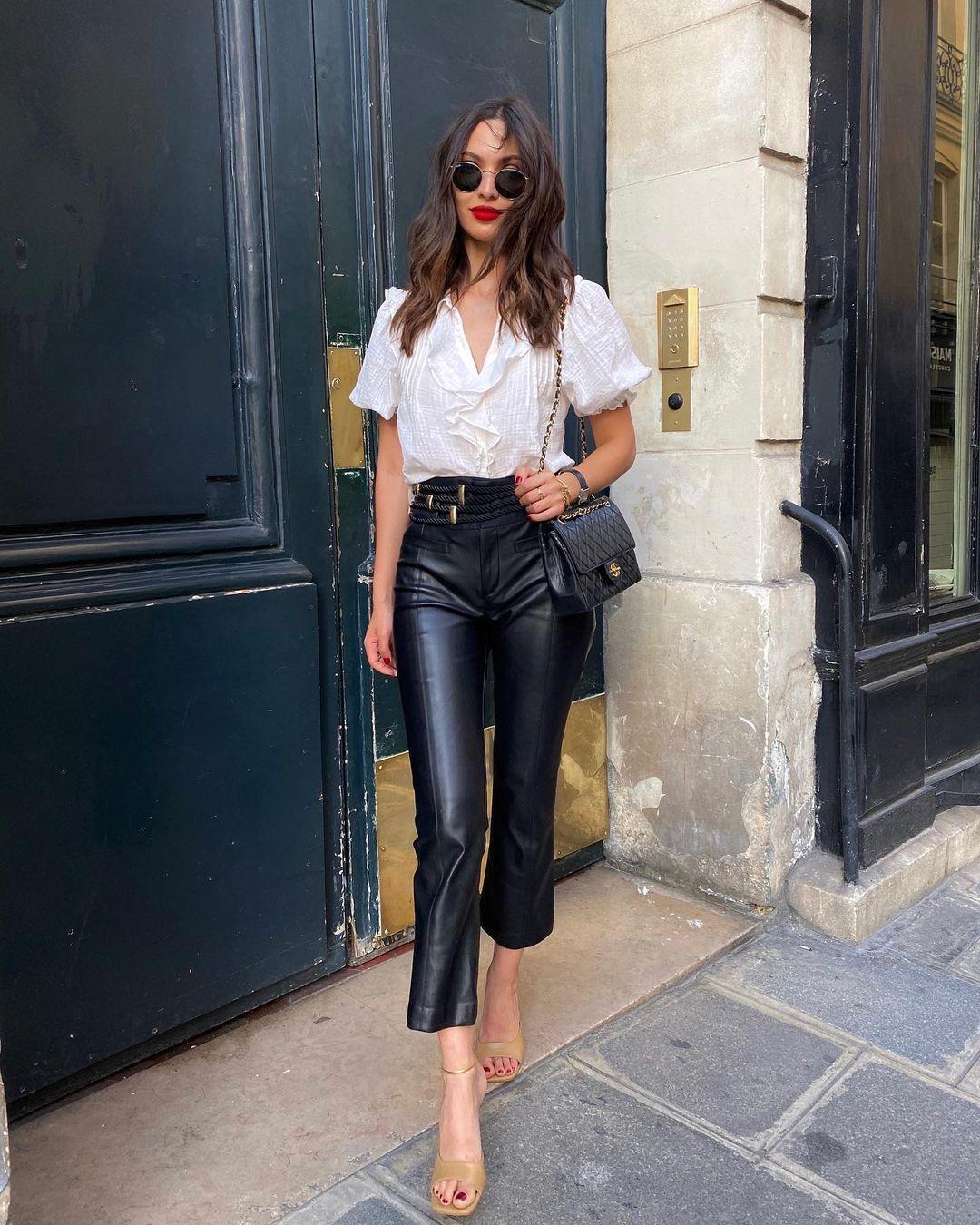 """Картинки по запросу """"style leather pants 2020"""""""