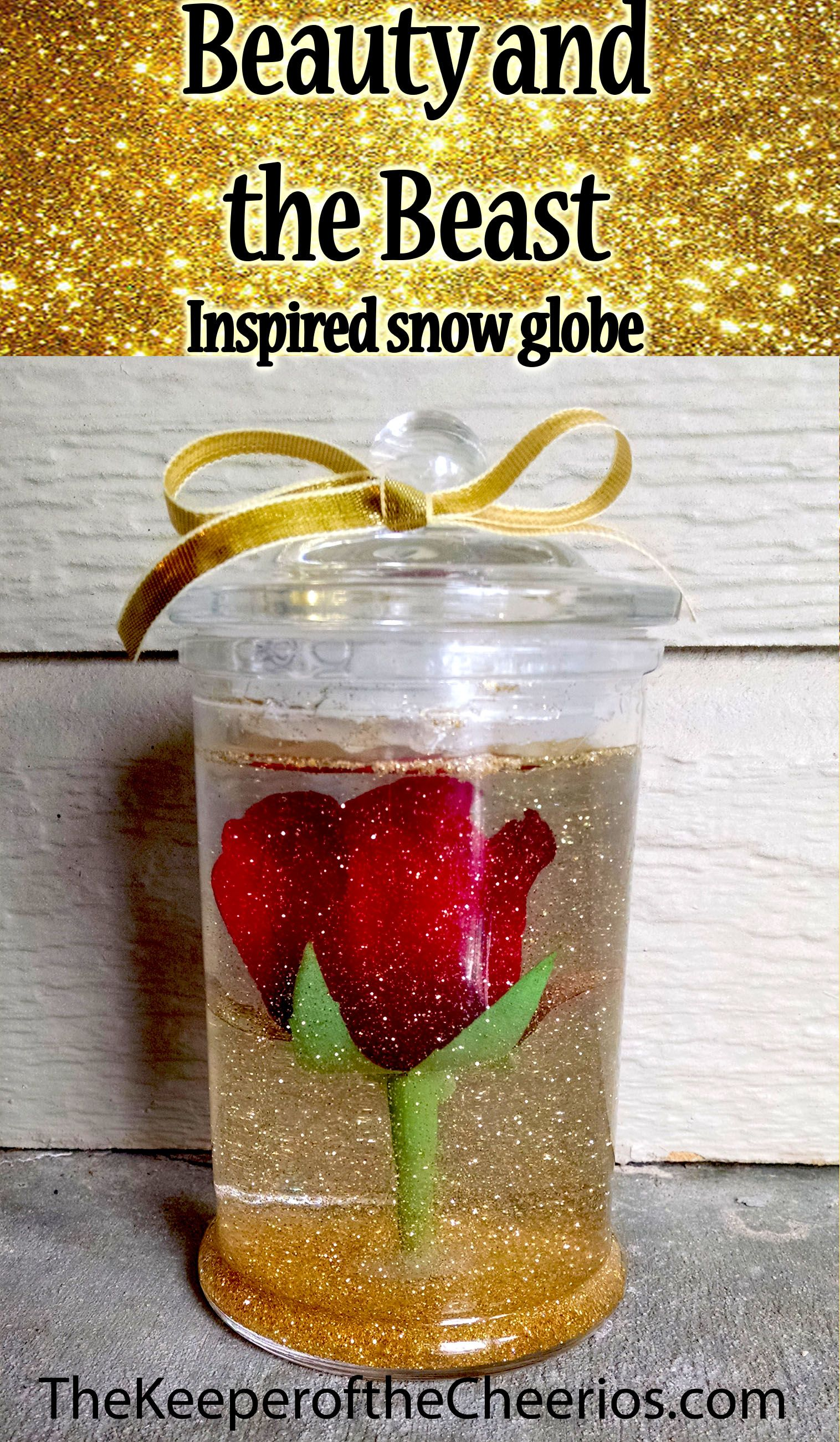 Beauty and the Beast Inspired Snow globe | Crafts DIY | Pinterest