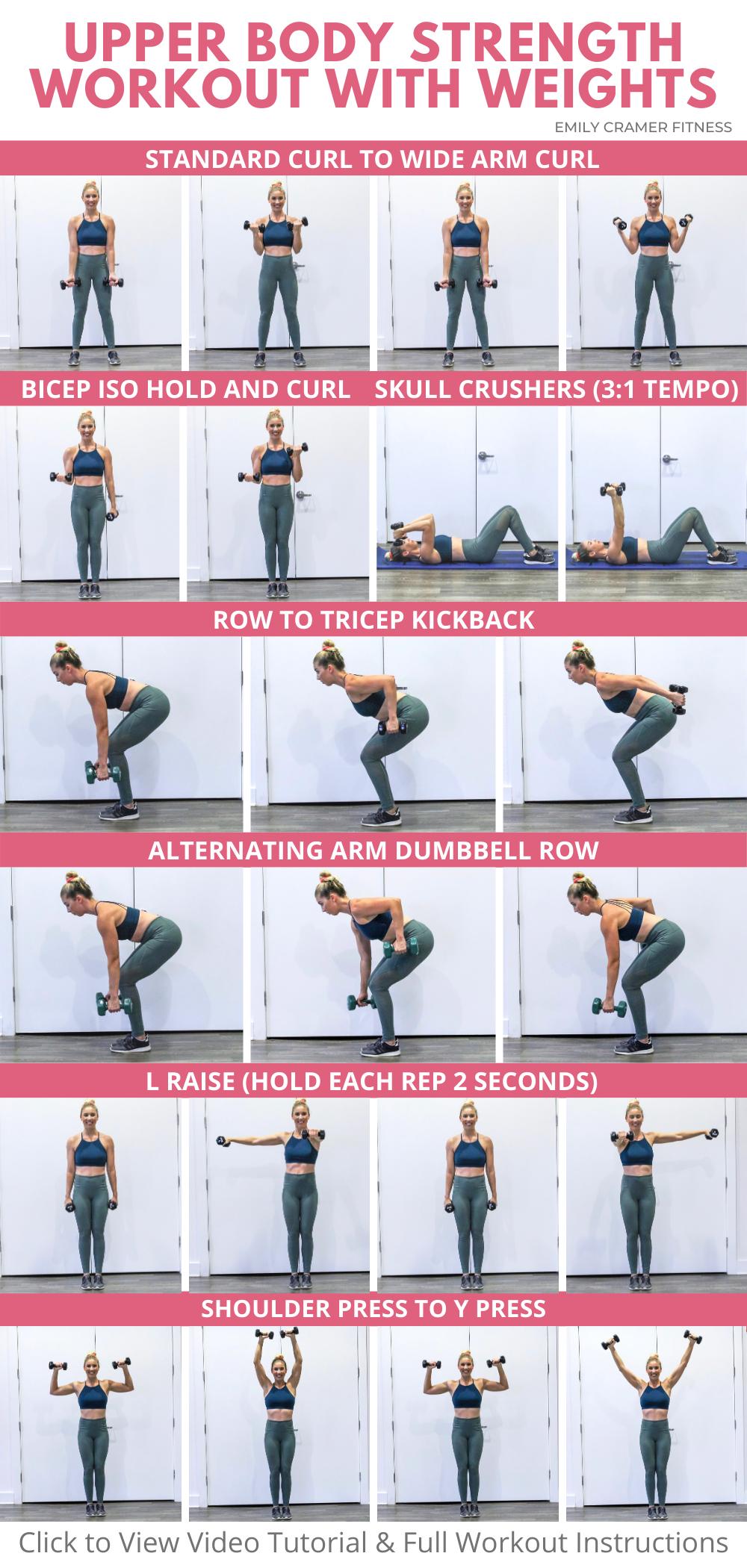 Dumbbell Upper Body Workout for Women