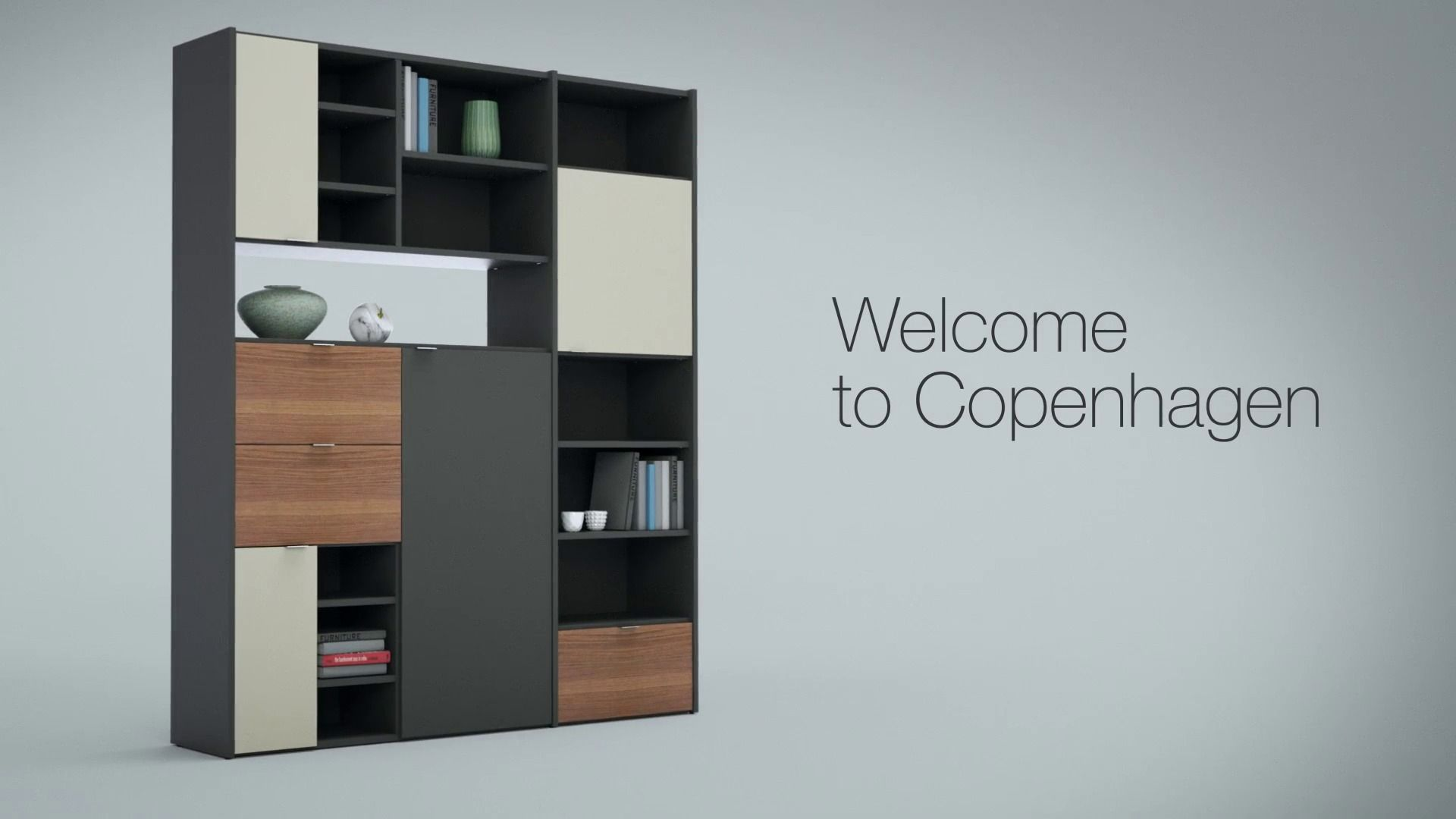 Copenhagen wall system from boconcept functional for Buro concept