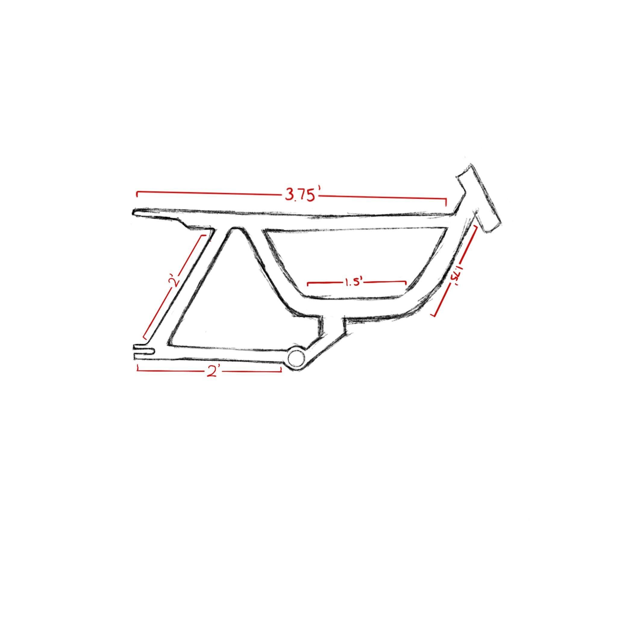How much would a bike frame with roughly these dimensions