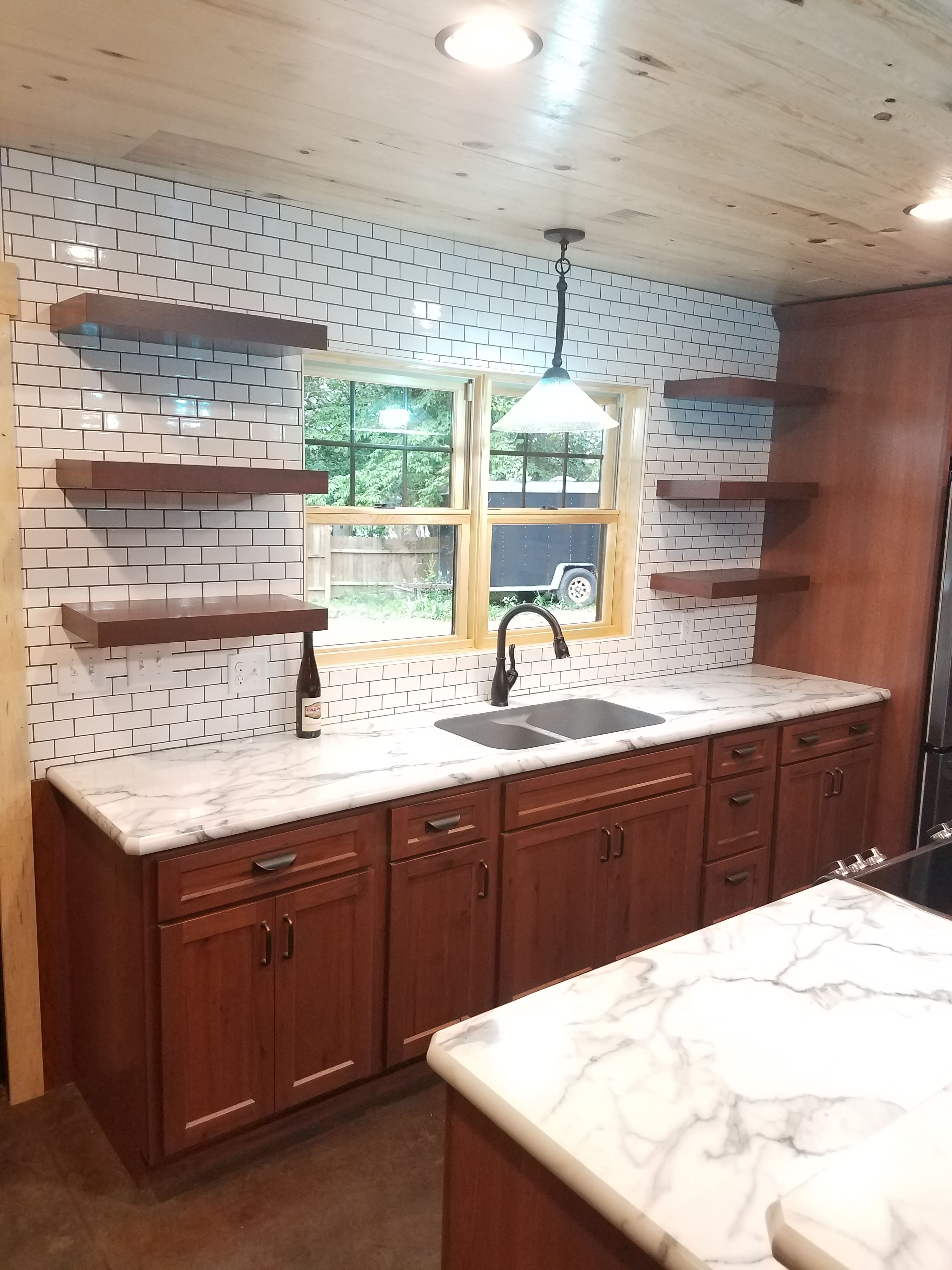 Rustic Hickory Cabinets with a \