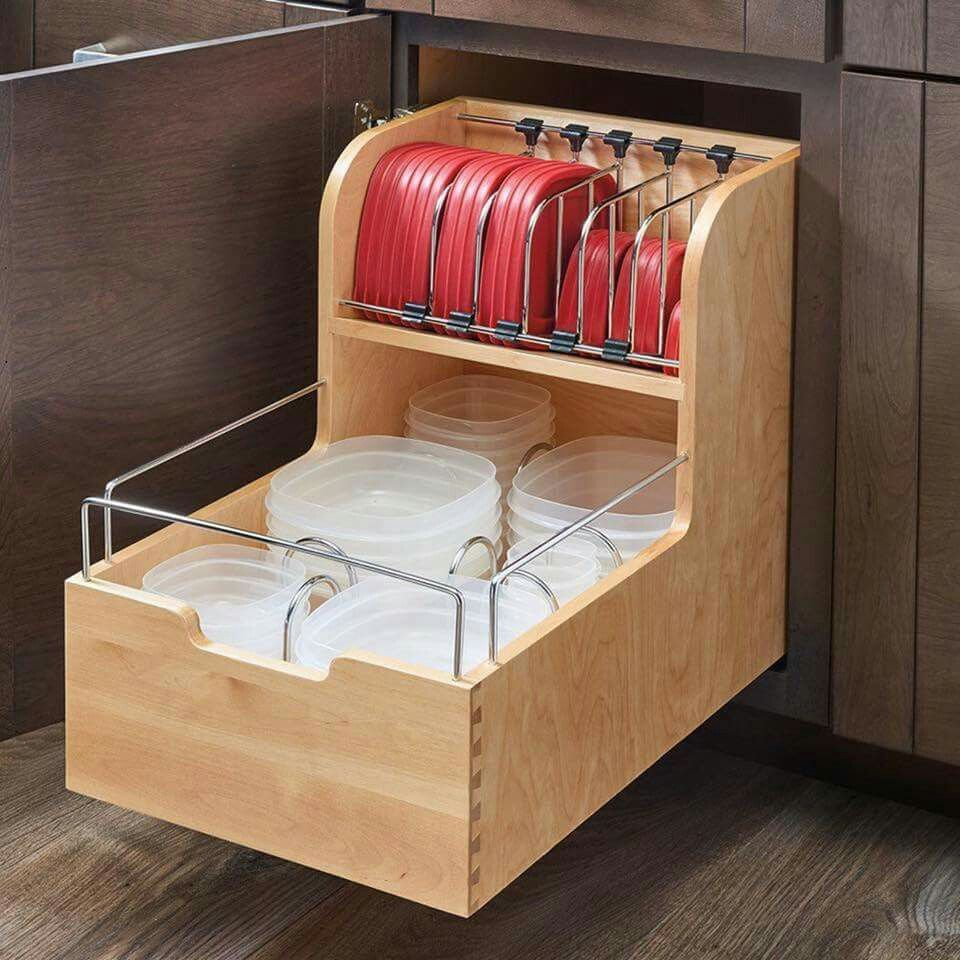 Features:  Set Includes: 1 Wood Dividers And 1 Set Of Blumotion Slides.   Adjustable Dividers To Accommodate All Sorts Of Lid Sizes.