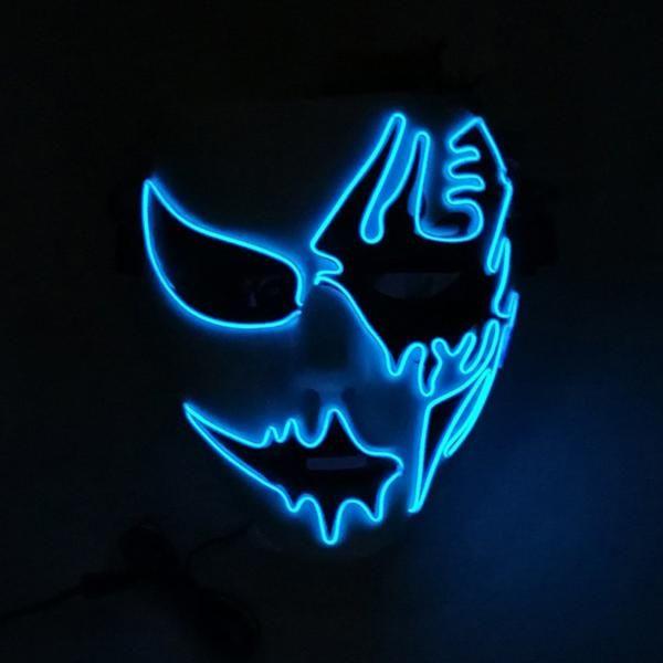 Blue Led Two Face Led Mask Halloween Masks Game Logo Design