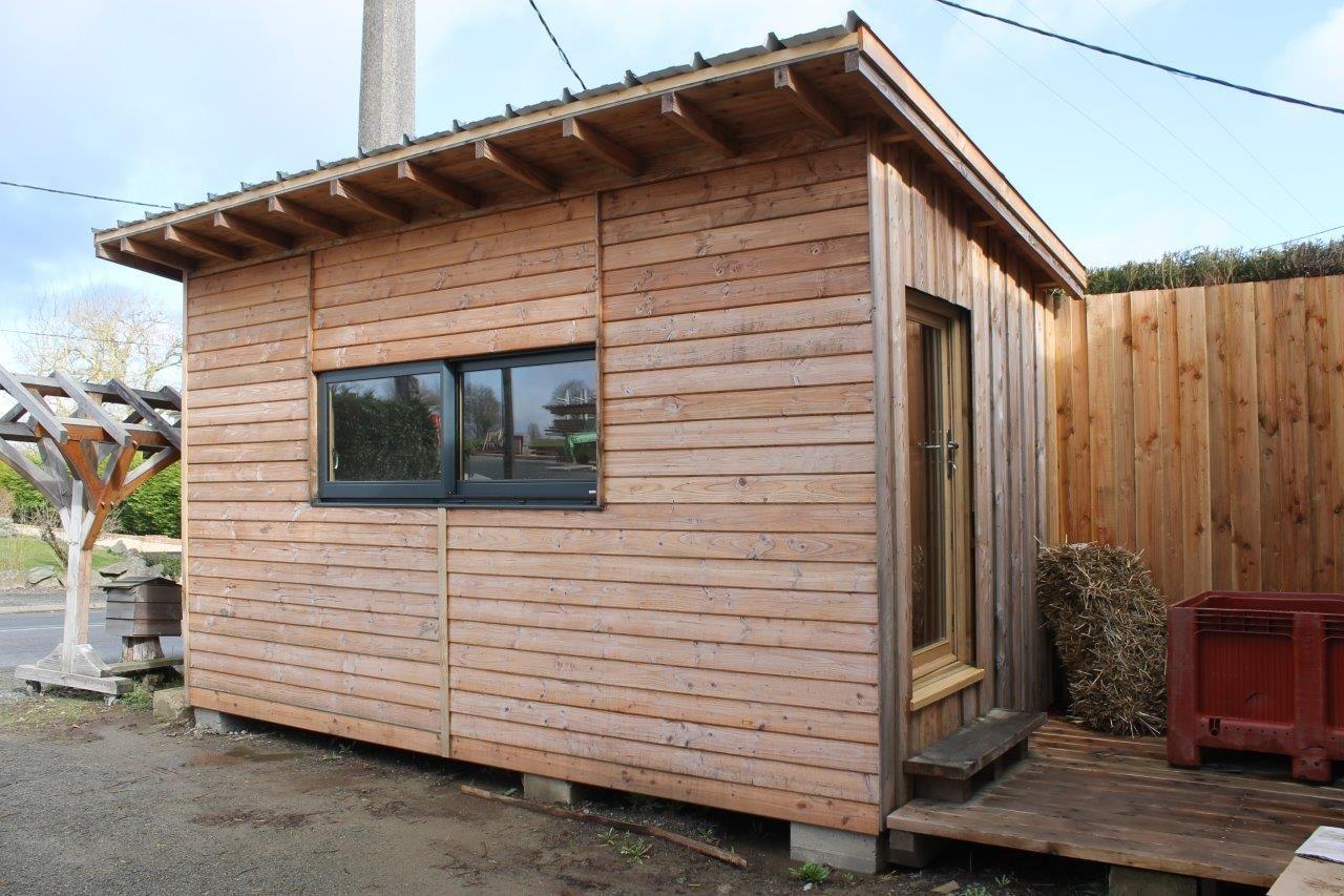Extension bois cube bureau chambre d amis bois et paille