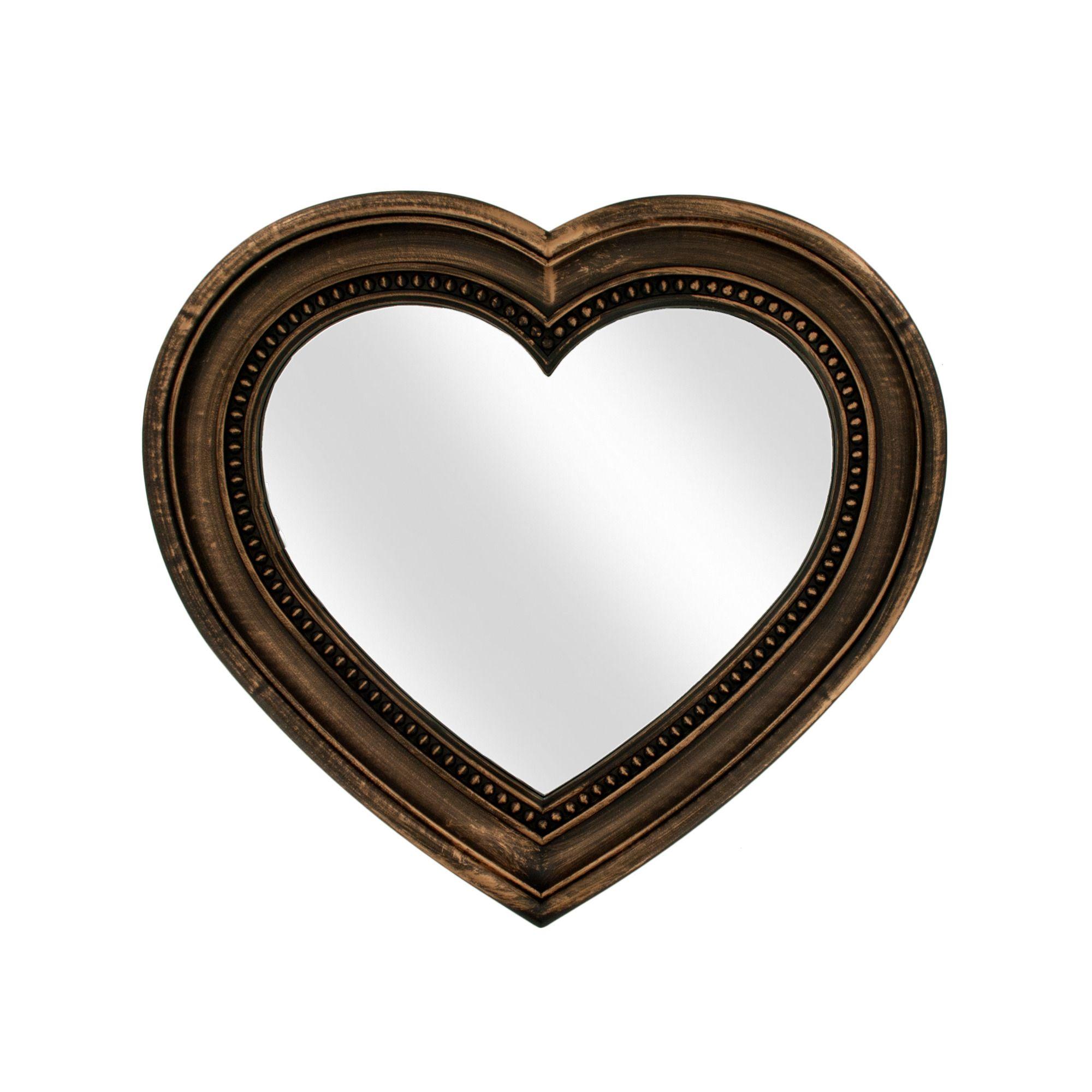Antique Bronze Heart Shaped Mirror Heart Mirror Heart Shapes Heart Shaped Frame