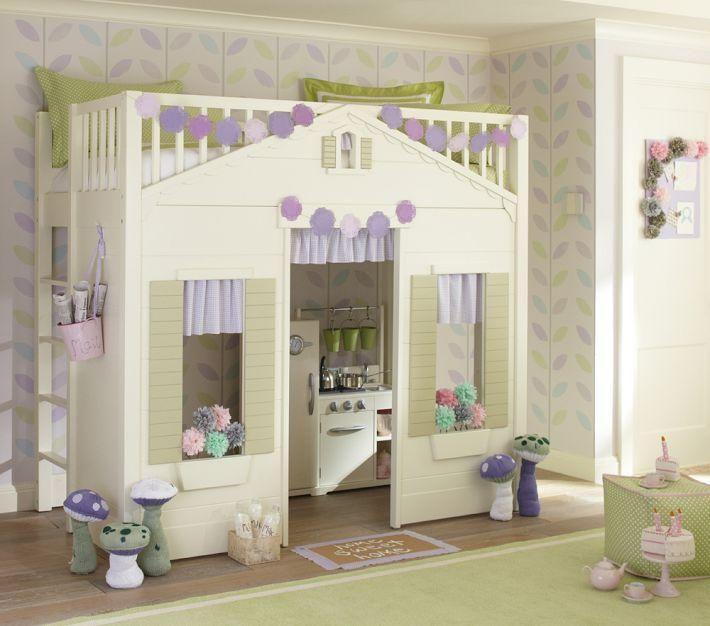Playhouse Loft Bed For Your Children Paperblog Playhouse Loft