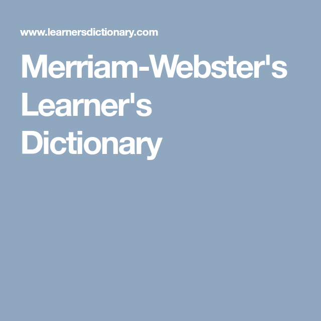 MerriamWebsterS LearnerS Dictionary  Contract Writing