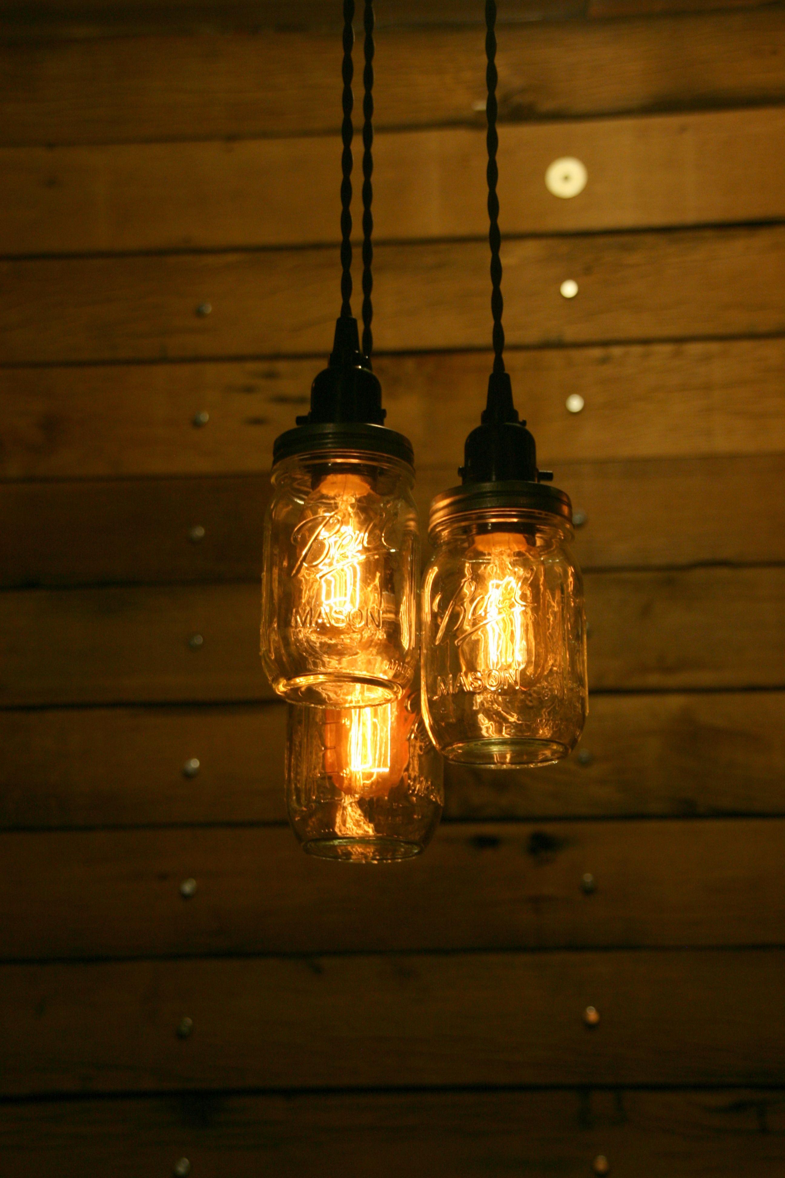 ball jar lighting. Three Ball Jar Chandelier Light - Pendant Cluster 3 By Industrial Rewind Lighting N