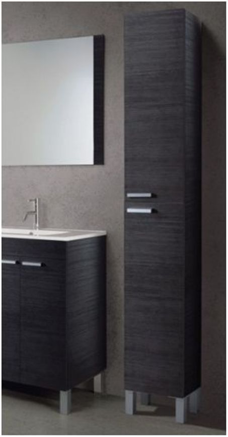 koncept tall narrow bathroom cupboard black gloss white furniture unit cabinet in home furniture - Bathroom Cabinets Black Gloss