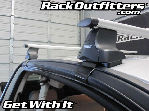 Chevrolet Silverado Extended Cab 4 Door Thule Rapid Traverse Aeroblade Roof Rack Silverado Truck Chevrolet Silverado Roof Rack
