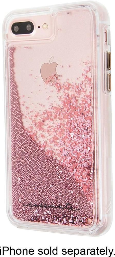 Best Buy Case Mate Case For Apple Iphone 6 Plus 6s Plus 7 Plus And 8 Plus Rose Gold Cm036178x Iphone 7 Rose Gold Iphone Phone Cases Glitter Iphone 6s Cases
