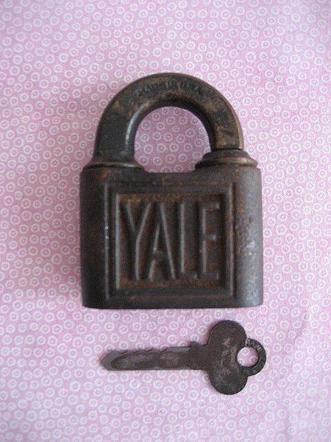 Vintage Antique Yale Lock Key