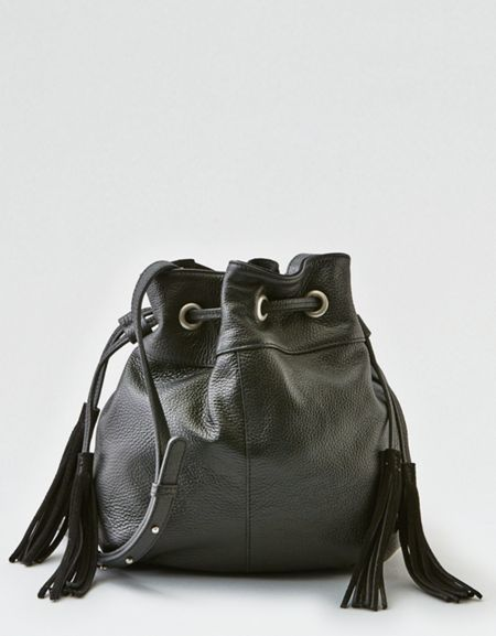 dae0eca41f3941 AEO Straw Bucket Crossbody Bag | Products | Bucket Bag, Bags, Bucket