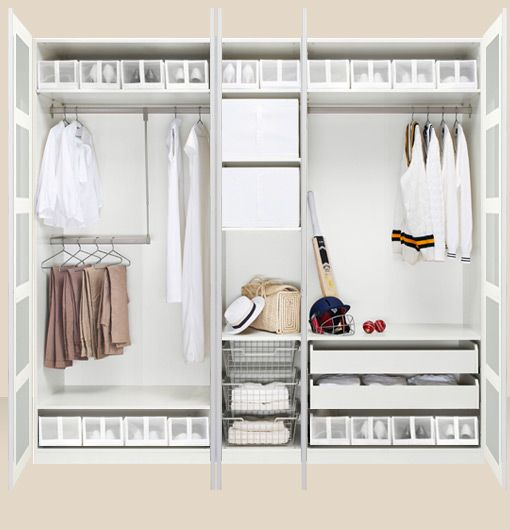 Small Space Walk In Closet Room Divider By IKEA. IKEA Always Has Such Great  Solutions For Small Rooms.