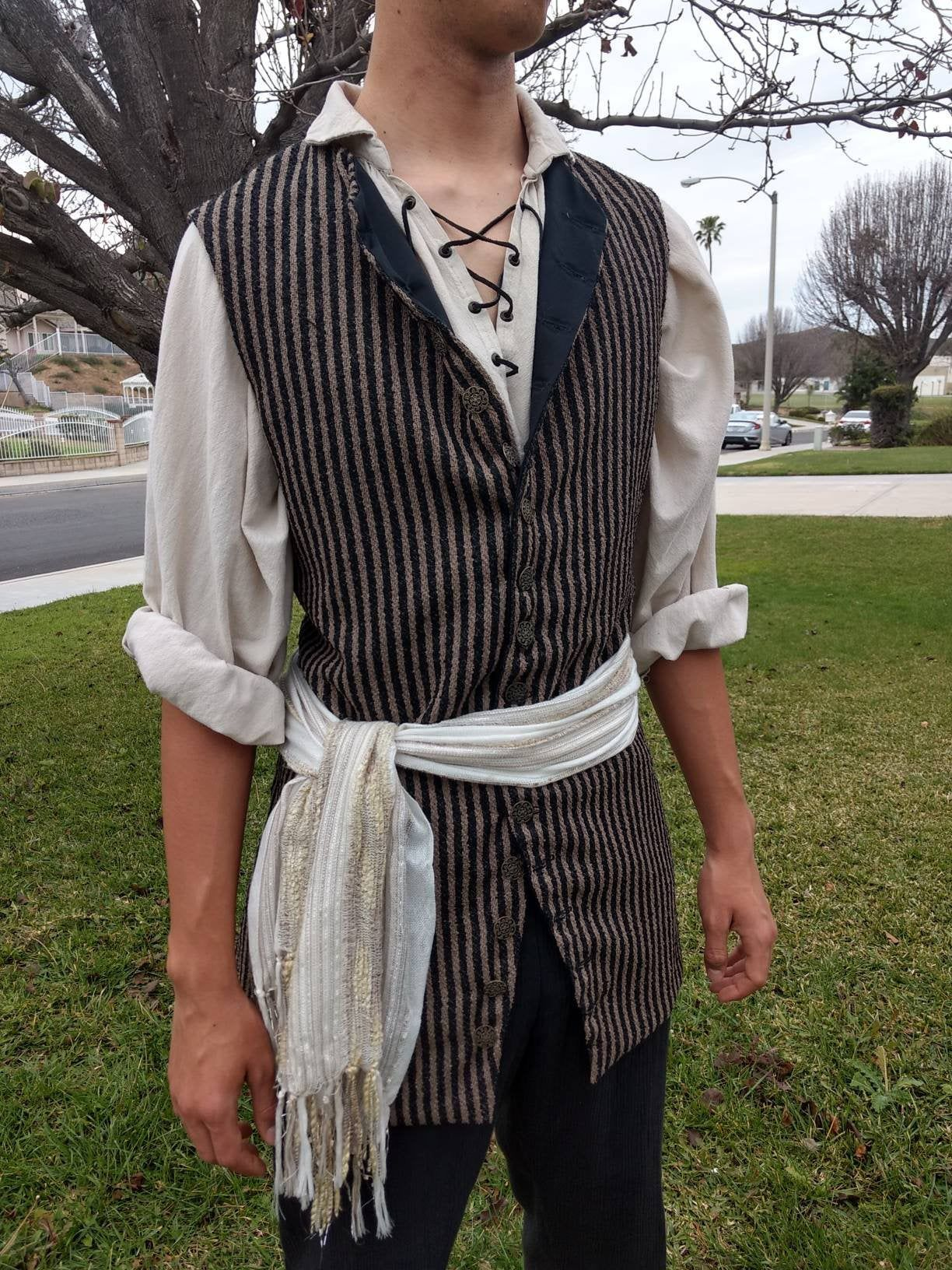 Pirate Shirt Steampunk Costumes SCA LARP Cosplay Renaissance Shirt Custom Size AND Color Men/'s Medieval