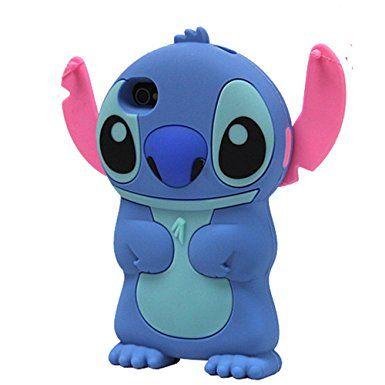 Boriyuan Iphone 4/4s con sagoma di Stitch-Cover in Silicone per ...