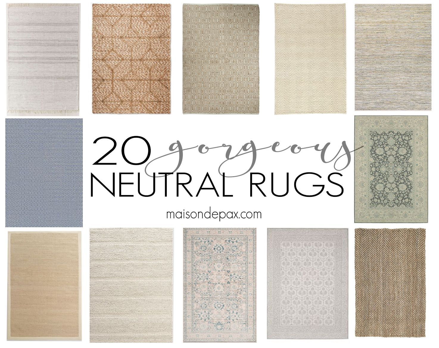20 Gorgeous Neutral Rugs | Traditional, Spaces and Modern