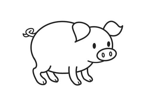 Kleurplaat varken   tekenen   Pinterest - Animales de la granja ...