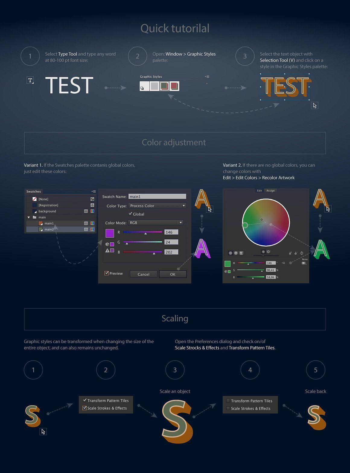AI CS5 graphic styles Neon Illustrator graphic styles